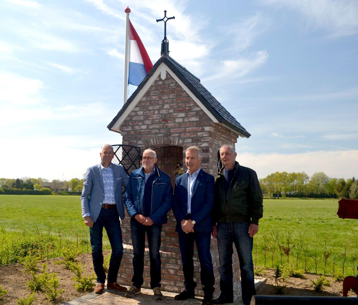 Derde heilige huisje gebouwd op de Wooij. Sint Rochus.